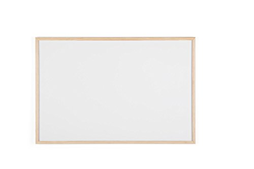 Bi-Office Budget - Pizarra blanca con marco de madera, 90 x 60 cm, no magnética