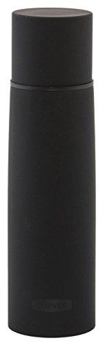 CURVER 822375 Bouteille Isolante Double parois INOX Living 1L, Noir Mat, 7,4 x 7,4 x 31,5 cm