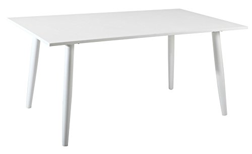 PEGANE Table en Aluminium Coloris Blanc- Dim : 160 x 90 cm