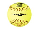 WILSON ASA Fast-Pitch Leder-Softball, 30,5 cm, 12 Stück -