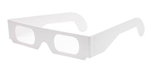 Multispektralbrille (5 Stück) - Hochwertige Prismabrille aus Papier zeigt Licht in Regenbogenfarben | Ideal für Feuerwerk, Partys und physikalische Experimente | Kostenloser Versand