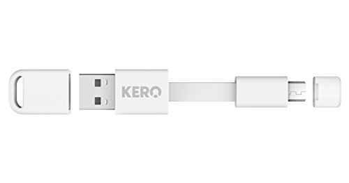 Kero Nomad Micro USB to USB 2.0 Key Ring Cable - White