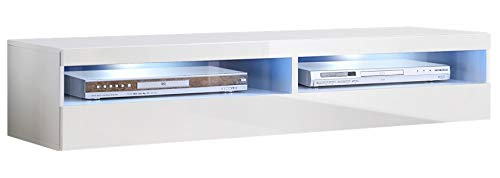 muebles bonitos – Mueble TV Modelo Tobic (160 cm) en Color Blanco