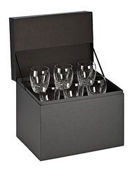 Waterford Crystal Lismore Essence Double Old Fashioned Glasses, Deluxe Gift Box, Set of 6 by Waterford Waterford Lismore Double Old Fashioned