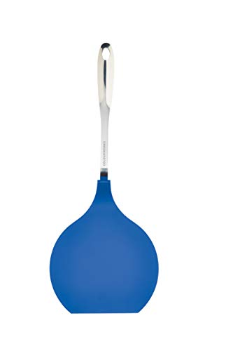 KitchenCraft Colourworks Nylon Headed Jumbo Pancake, Crepe and Egg Turner, Blue, 40.5 cm