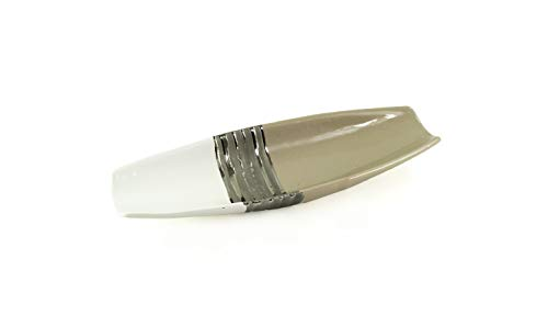 Lifestyle & More Moderne Dekoschale Obstschale Schale aus Keramik weiß/beige Länge 33 cm