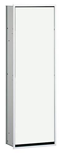 Emco Asis 300 Unterputz Badschrank, Einbauschrank für Badezimmer und WC, Farbe Chrom/Glas optiwhite - 977027863