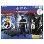 Sony Computer Ent. PS4 Console 1TB F + Uncharted 4 + Ratchet & Clank + The Last of Us (PS Hits) EU
