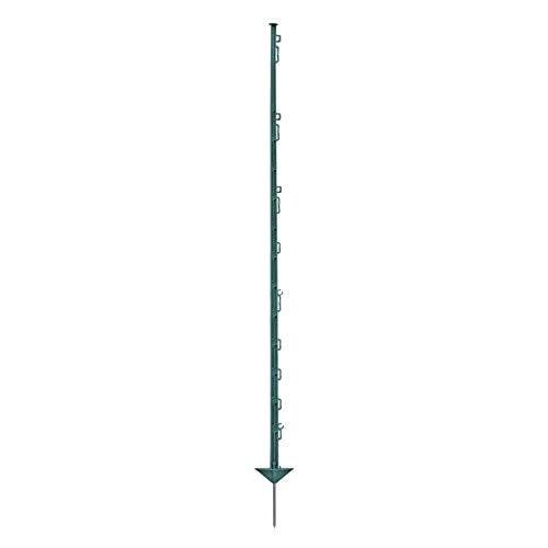 Voss.farming 20x piquets en Plastique, 150cm, 14 oilletons, Couleur Verte