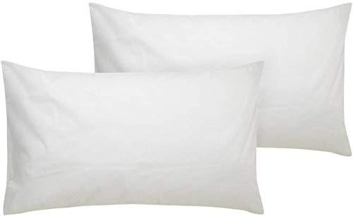 "PumPum 2 Piece Textrise Black Fiber Pillow Set - 16""x24"" Inch,White"