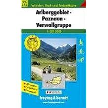 Freytag Berndt Wanderkarten, Arlberggebiet, Paznaun, Verwallgruppe