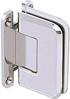 CRL Pinnacle 037 Series Chrome Wall Mount Full Back Plate Standard Hinge by C.R. Laurence -