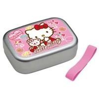 Hello Kitty aluminum lunch box 370ml ALB5NV (ribbon Suites and bear) (japan import)
