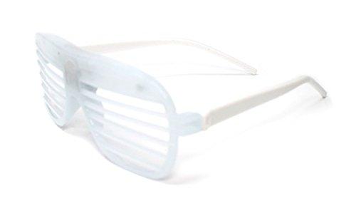 Ultra ® weiß blinkende LED Shutter Retrostil Gläser geschlitzt für Erwachsene und Kinder Parteien Veranstaltungen Raves Tanz-Clubs und Partys