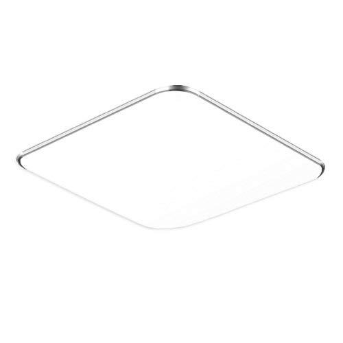SAILUN 36W Ultra sottile LED Bianco Freddo plafoniera moderno lampada da soffitto per soggiorno, cucina, camera, bagno, hotel - Argento