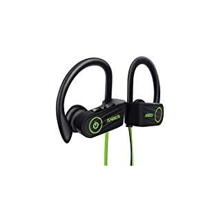 ANBES Bluetooth Headphones, IPX7 Waterproof Wireless Sports Earbuds, Bluetooth 4.1 with Mic, 8 Hours Play Time, Designed for Gym Running CVC6.0 Noise Canceling Microphone