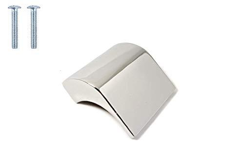 Quadratischer Knauf aus poliertem Nickel in Schwarz matt roségold antik Messing Kupfer Türgriff Zuggriff Küche Schrank Schublade - 32mm Hole Center - poliertes chrom -