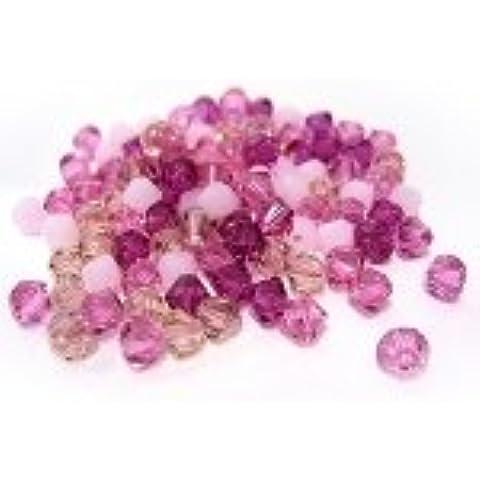 Cristallo SWAROVSKI - mix di biconi rose
