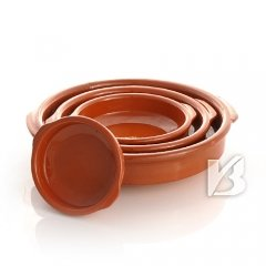 Cazuela, traditionell, flach, braun 10 cm
