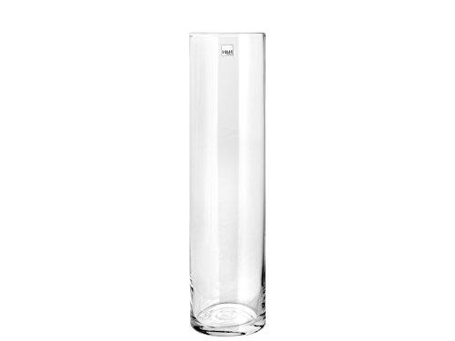 H & H 8249830 Pengo Vase en verre cylindrique 11 x 30 cm, transparent