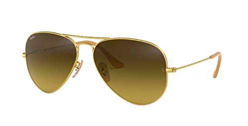 Ray-Ban 3025 Aviator RB 3025 112/85 55mm Matte Gold Frame / Brown Gradient Small