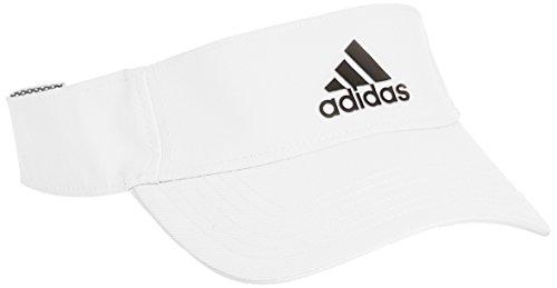 Adidas-Berretto Climalite Visor berretto, Unisex, Kappe Climalite Visor Schirmmütze, bianco,
