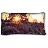 custom-nature-nature-spring-morning-grass-capital-sun-custom-cotton-polyester-soft-rectangle-pillow-