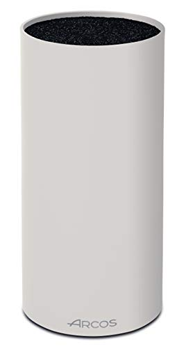 Arcos Tacos - Bloque Universal para Cuchillos hasta 20 cm - Hecho de Caucho Termoplástico de 225 mm - Color Blanco