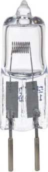 S+H Halogen-Projektorlampe 12,5x50mm G6,35 24 Volt 150 Watt 300h HLWS4