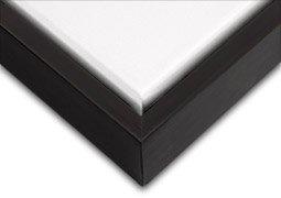 Holz Float (Creative Mark Illusions Holz Floater Rahmen verschiedene Farben/Größen, holz, schwarz/schwarz, 12X16)