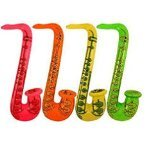 4x Inflatable Saxophone 75cm