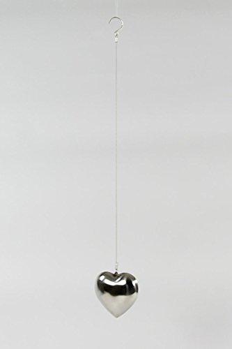 Qubeat Edelstahl Herz mit Aufhängung 10cm rostfrei Dekoration