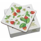 Alpine Strawberry 10.5cm Coaster (Set of 6) by Roy Kirkham Roy Kirkham Alpine Strawberry