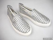 Preisvergleich Produktbild Rachel Zoe RZB-000397 Burke Cracked Nappa Slip-ons Aluminium Damen Sneaker Gr.42