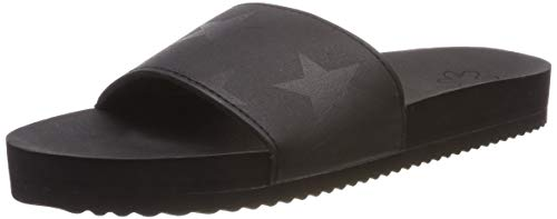 flip*flop Damen poolstarlight Pantoletten, Schwarz (Black 0000), 39 EU