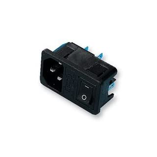 Dynamic-Res ARCOLECTRIC SWITCHES - T0717SBAAA - INLET, IEC, SWITCHED/FUSED - Pack of 1 --