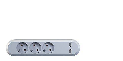 Bachmann 381.801 Steckdosenleiste mit integriertem 2-Fach USB Ladegeräte weiß