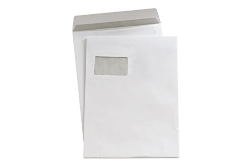 5 Star Versandtaschen C4 sk weiß mit Fenster 90 g/qm Inh.250