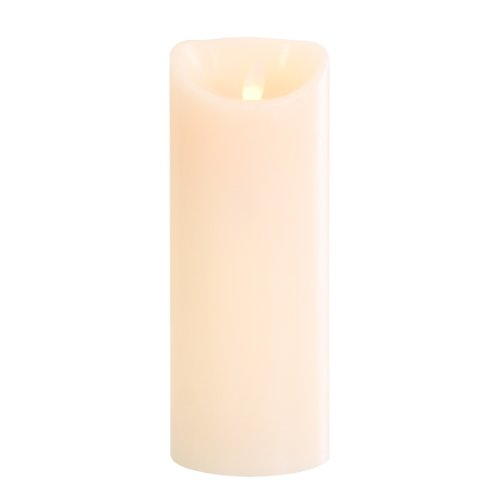 greemotion LED-Kerze Elegance aus Echtwachs, LED Kerze mit sich bewegender Flamme, flammenlose Kerze mit Automatik-Timer