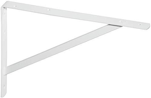 Gedotec Schwerlast-Konsole Metall Regalträger Winkel-Konsole Weiss - Athena | Tiefe: 295 mm | Schwerlastträger Tragkraft 200 kg | Regalhalter Stahl massiv | 1 Stück - Regalkonsole für die Wandmontage