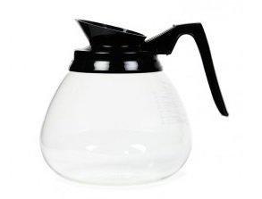 3x 64oz Carafe à décanter en verre noir C/W Poignée et bec verseur (Carafe à décanter/café/café en verre carafe/Filtre à café pour une utilisation avec machine)