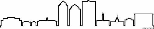INDIGOS UG - Wandtattoo Wandsticker Wandaufkleber Aufkleber - Wandaufkleber f1230 Skyline Stadt - Albuquerque (USA - United States) Design 4-180x34 cm - schwarz - Dekoration Küche Bad Büro Hotel