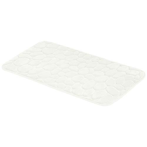 AmazonBasics - Badematte, Memoryschaum, Stein-Optik, Beige, 50 x 80 cm