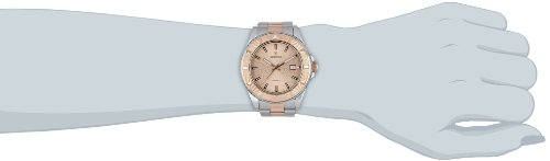 Festina Unisex Quartz Watch with Rose Gold Dial Analogue Display and Two Tone Stainless Steel Bracelet F16685/2