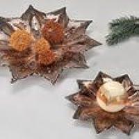 Plato a estrella marrón de cristal cm 25