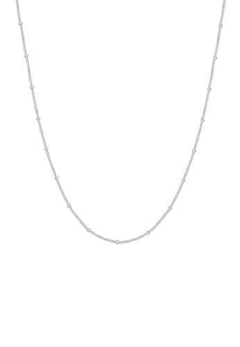 Elli Halskette Damen Basic Panzerkette Kugeln Klassisch Fein in 925 Sterling Silber