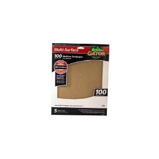 Ali Industries 4441 5-Pack 9 x 11-Inch 100-Grit Sandpaper - Quantity 10