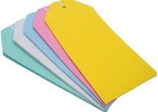 100Pack–Etiquetas/muñecos de colores, 120x 50mm), color morado