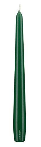 Spitzkerzen Dunkelgrün 250 x 25 mm, 12 Stück, konische Kerzen, Kerzen in konischer Form