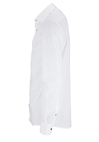 eterna -  Camicia classiche  - Basic - Classico  - Maniche lunghe  - Uomo Bianco
